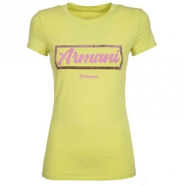 T-Shirt con logo in contrasto e paillettes PERIDOT