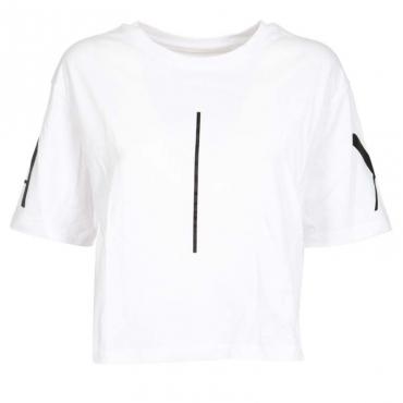 T-Shirt girocollo corta in cotone OPTIC WHITE