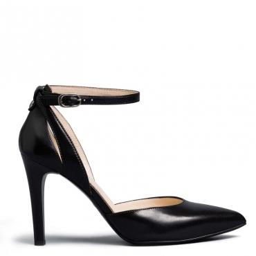 Decollet Pandora nera con laccio alla caviglia 100