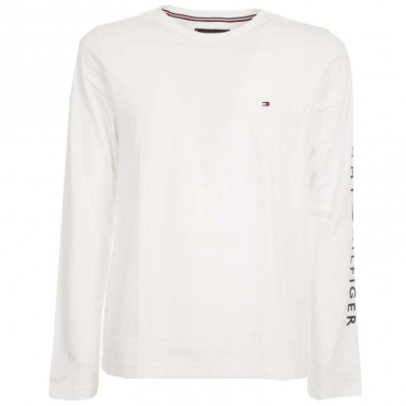 T-Shirt a maniche lunghe in cotone YBR WHITE