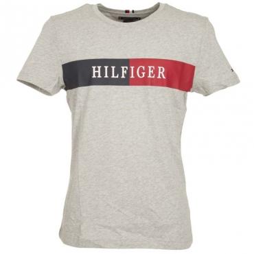 T-Shirt in cotone con logo centrale P92MEDIUMGRE