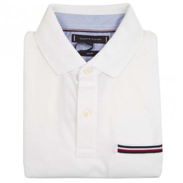 Polo in cotone con taschino logato YBRWHITE