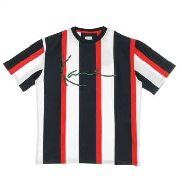 MAGLIETTA SIGNATURE STRIPE TEE NAVY/RED/WHITE