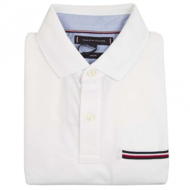 Polo slim fit con taschino logato YBRWHITE