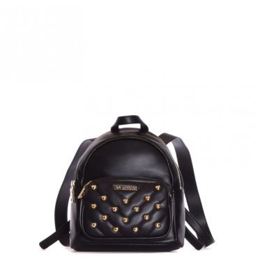 Zaino trapuntato con borchie NERO