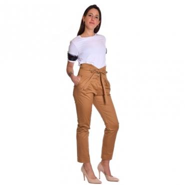 Pantalone gabardina fiocco COGNAC