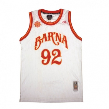CASACCA 5TATE OF MIND BASKETBALL JERSEY BARNA DEFENDERS White/Red/Yellow/Orange unico