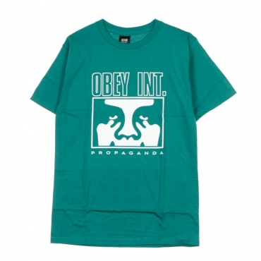 MAGLIETTA OBEY INT ICON FACE BASIC TEAL
