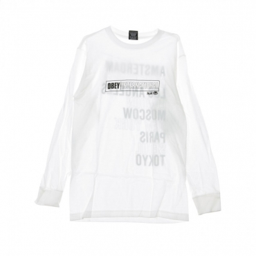 MAGLIETTA OBEY INTL CITIES WHITE
