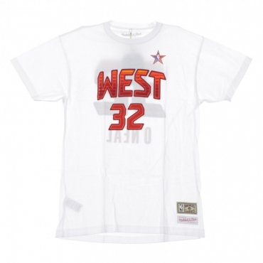 MAGLIETTA NBA NAME  NUMBER TEE NO32 SHAQUILLE ONEAL ALL STAR WEST 2009 WHITE/ORIGINAL TEAM COLORS