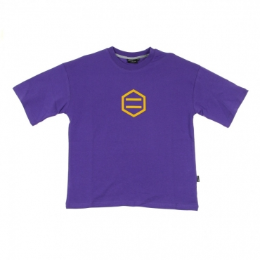 MAGLIETTA LOGO PURPLE/YELLOW