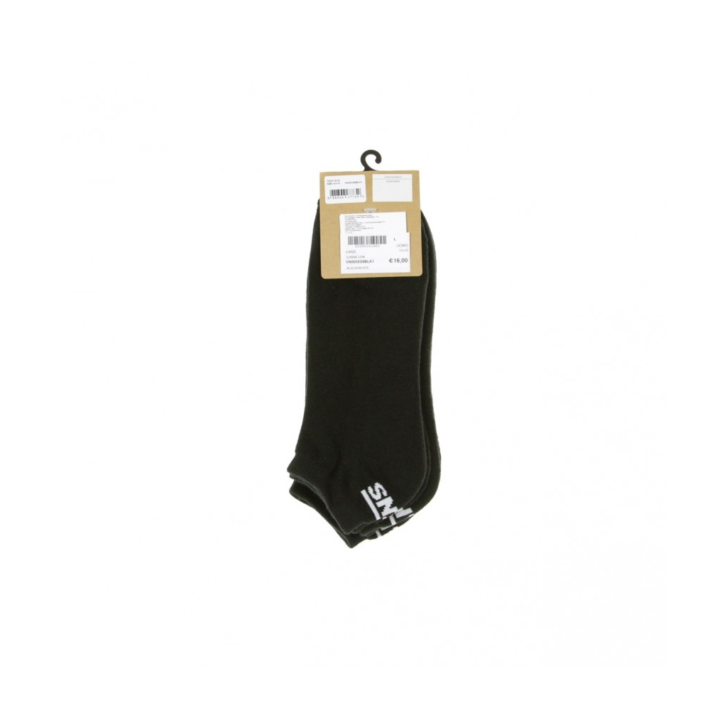 CALZE CLASSIC LOW BLACK/WHITE