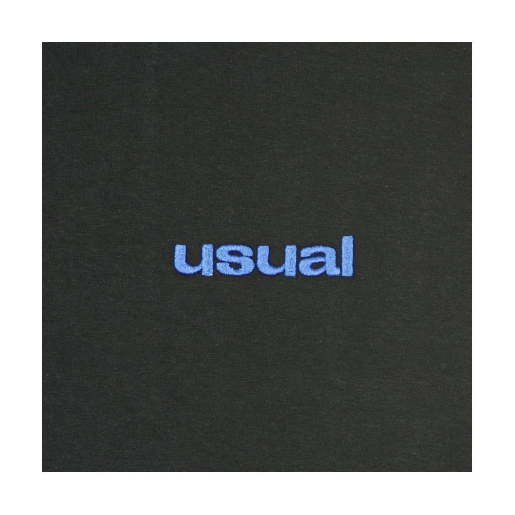 MAGLIETTA LOGO MINIMAL BLACK/BLUE