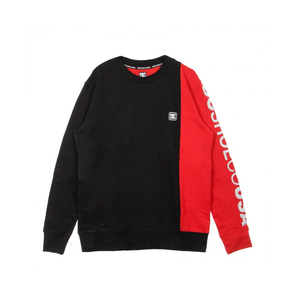 FELPA GIROCOLLO WEPMA CREW BLACK/RED