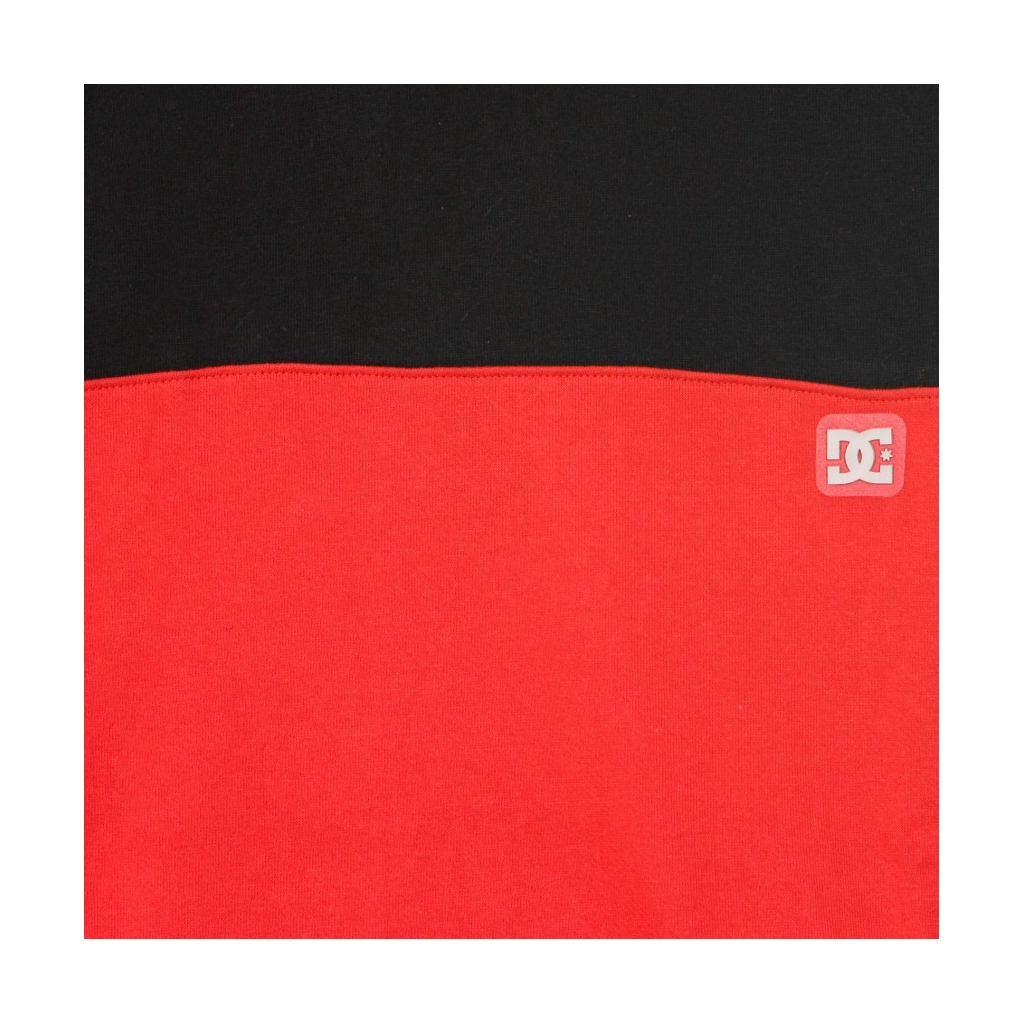 FELPA GIROCOLLO REBEL CREW BLOCK 3 BLACK/RED