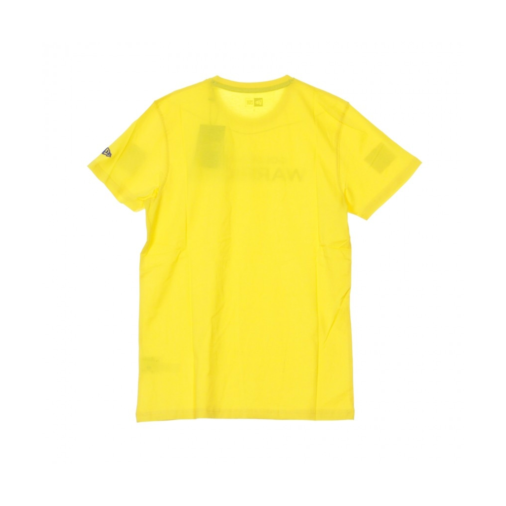 MAGLIETTA NBA TEAM APPAREL POP LOGO TEE GOLWAR CANARY YELLOW/ORIGINAL TEAM COLORS