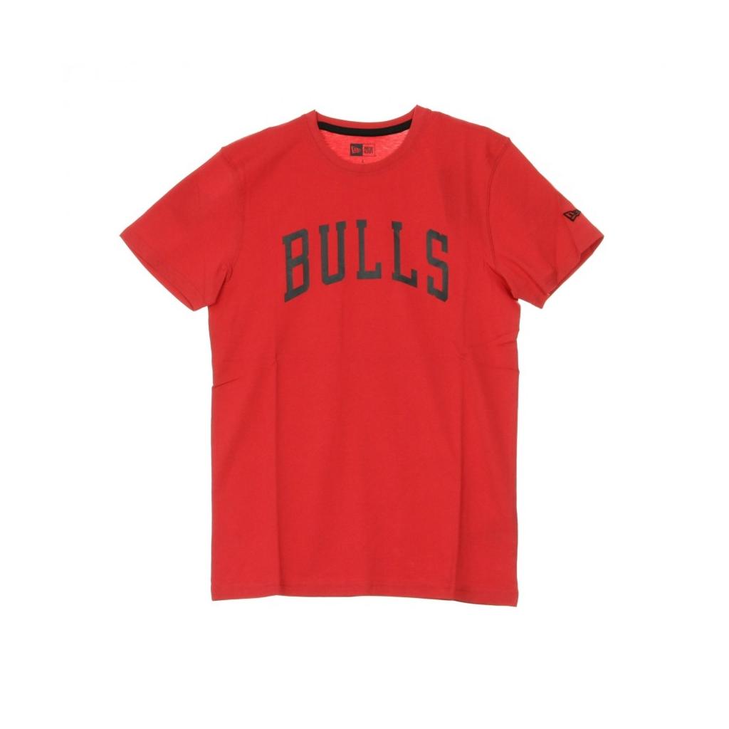 MAGLIETTA NBA TEAM APPAREL POP LOGO TEE CHIBUL FRONT DOOR RED/ORIGINAL TEAM COLORS