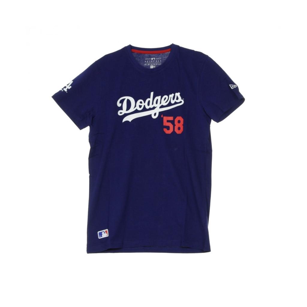 MAGLIETTA MLB SCRIPT TEE LOSDOD DARK ROYAL/ORIGINAL TEAM COLORS