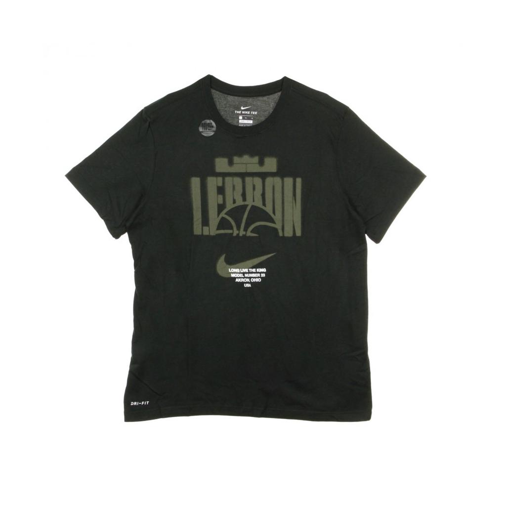 MAGLIETTA LEBRON DRY TEE BALL BLACK/BLACK