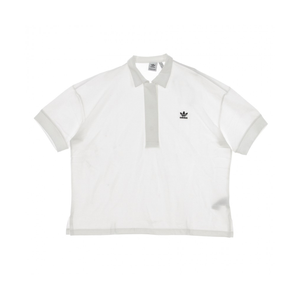 POLO MANICA CORTA OVERSIZED POLO WHITE/BLACK