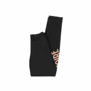 LEGGINS LOGO LEGGINGS BLACK/CANTALOUPE ORANGE