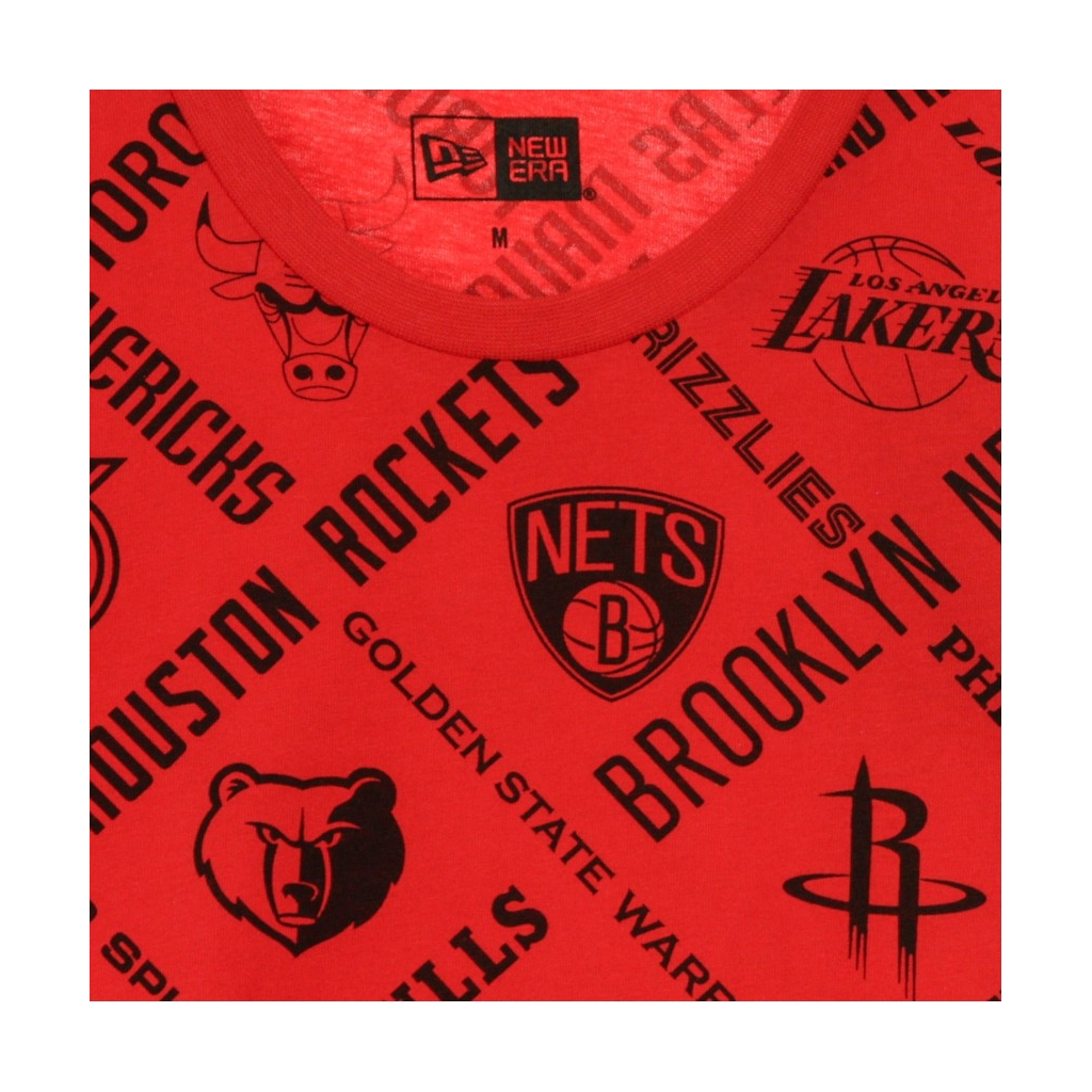 MAGLIETTA NBA ALL OVER PRINT TEE ALL TEAMS OTC FRONT DOOR RED