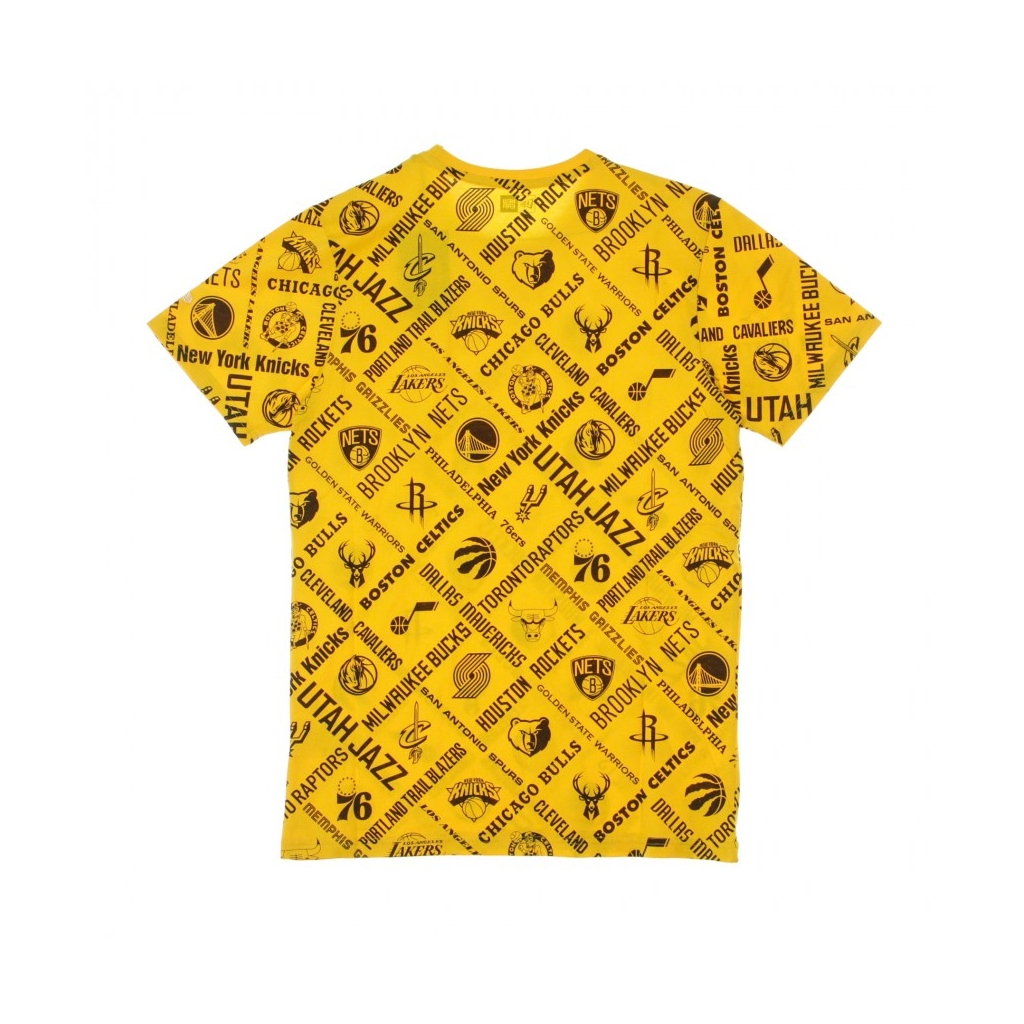 MAGLIETTA NBA ALL OVER PRINT TEE ALL TEAMS OTC AUTHENTIC GOLD