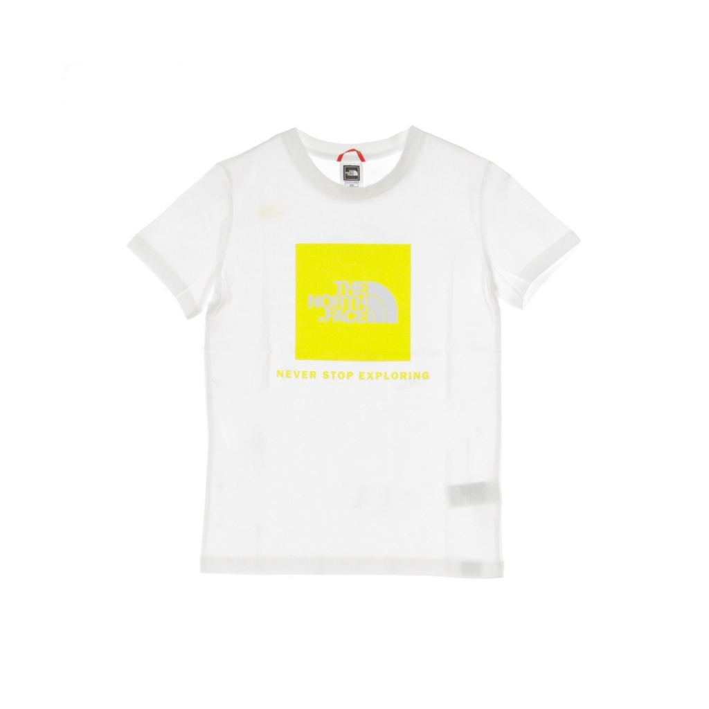 MAGLIETTA BOX TEE WHITE/LEMON