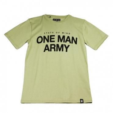 MAGLIETTA ONE MAN ARMY TEE VERDE PISTACCHIO