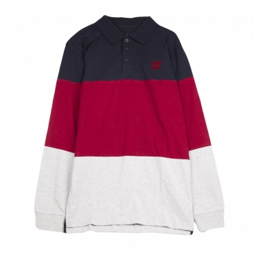 POLO 94 HERITAGE POLO NAVY/RED/LIGHT GREY