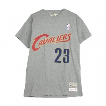 MAGLIETTA NAME  NUMBER TRADITIONAL TEE LEBRON JAMES NO23 CLECAV GREY/RED/GOLD