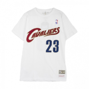 MAGLIETTA NAME  NUMBER TRADITIONAL TEE LEBRON JAMES NO23 CLECAV WHITE/WINE/GOLD