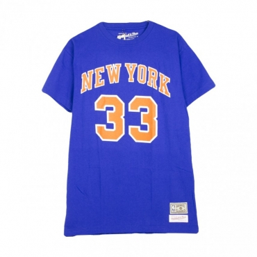 MAGLIETTA NAME  NUMBER TRADITIONAL TEE PATRICK EWING NO33 NEYKNI BLUE/ORANGE