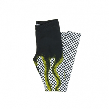 LEGGINS W CHECKER LEGGINGS YELLOW/BLACK