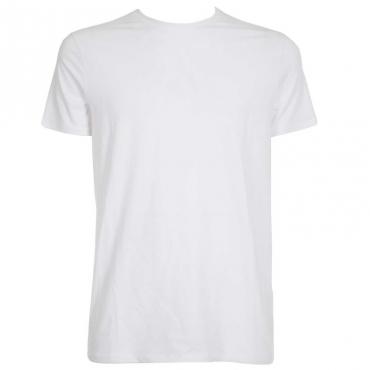 T-shirt tinta unita con logo BIANCO OTTICO