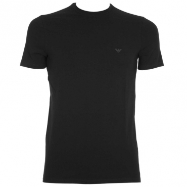T-shirt tinta unita con logo NERO