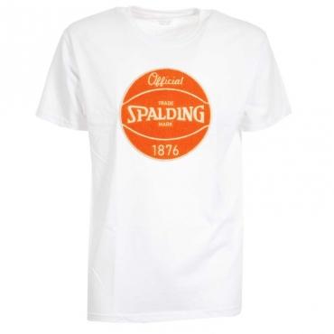T-Shirt con logo centrale 18WHITE