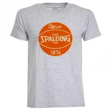 T-Shirt con logo centrale 04GREYMELANG
