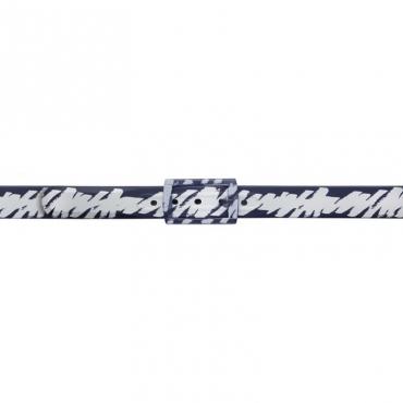 Cintura Schizzo nera e bianca BLU/WHITE