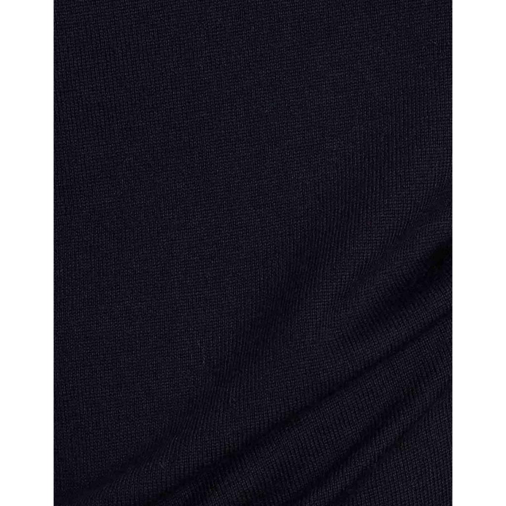Merino wool crewneck pullover 04 NAVYBLUE