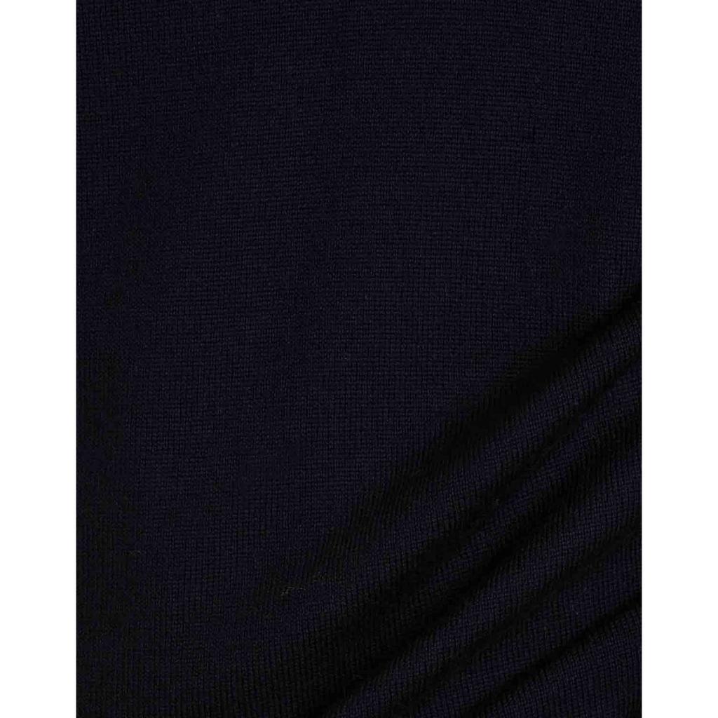 Closed vest in merino wool 04 NAVY