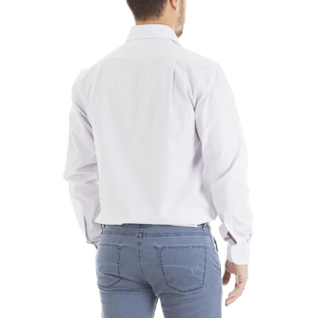 Camicia Collo Italiano con motivo a righe 756