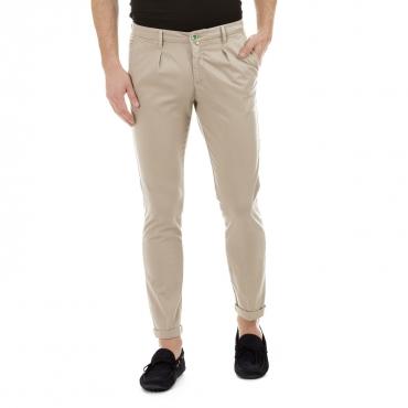 Pantalone Carl in twill di cotone 43 Barbati