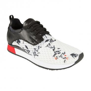 Sneakers bianche con fantasia floreale FLOWER WHITE