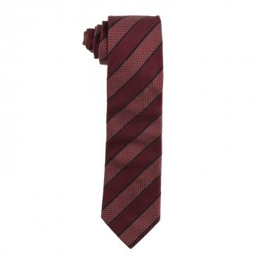 Cravatta Regimental in seta 611MEDIUMRED