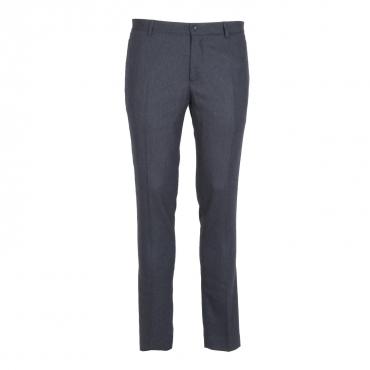 Pantalone blu in misto lana 23