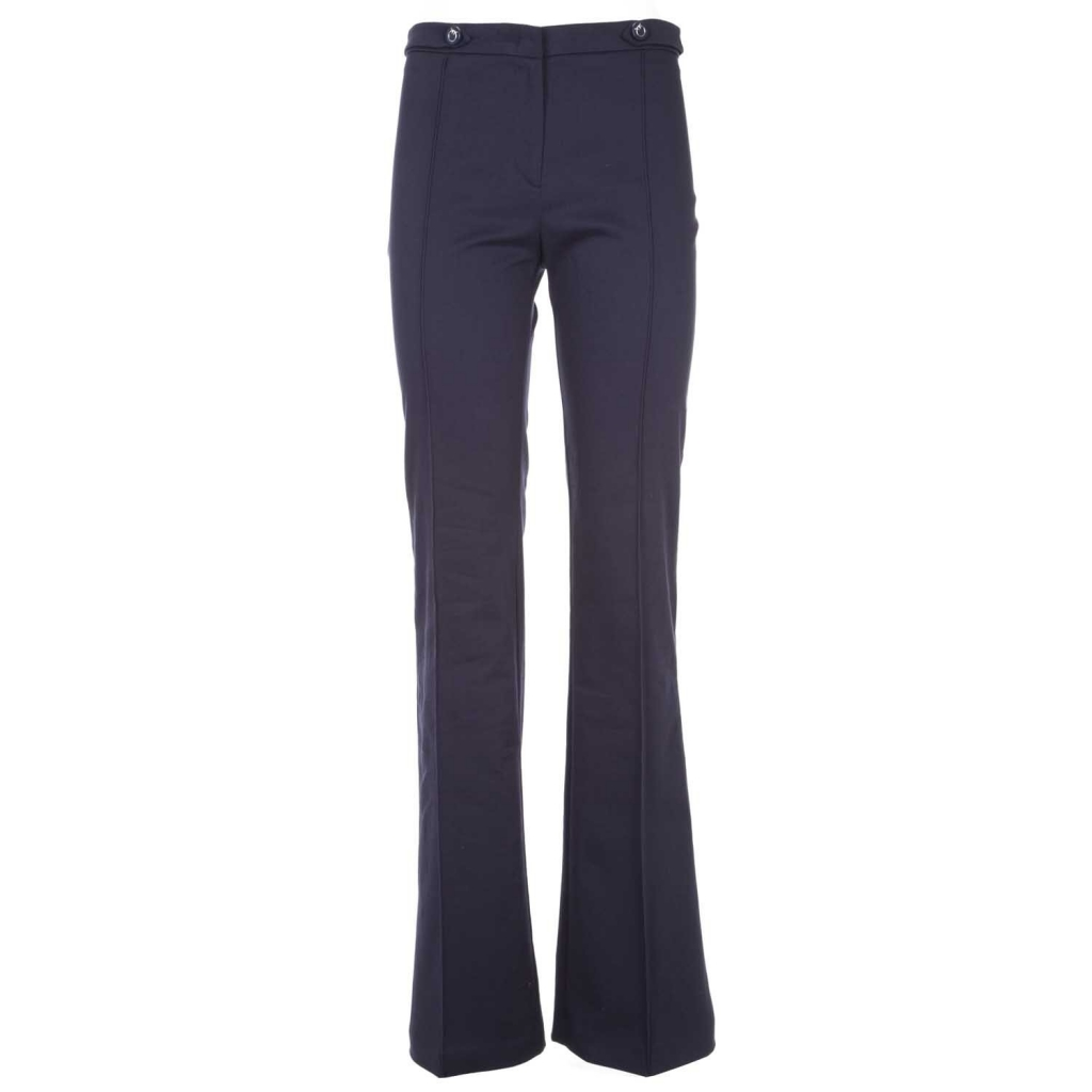 Hose in blau Stretch Bein Gabardine F92BLUE