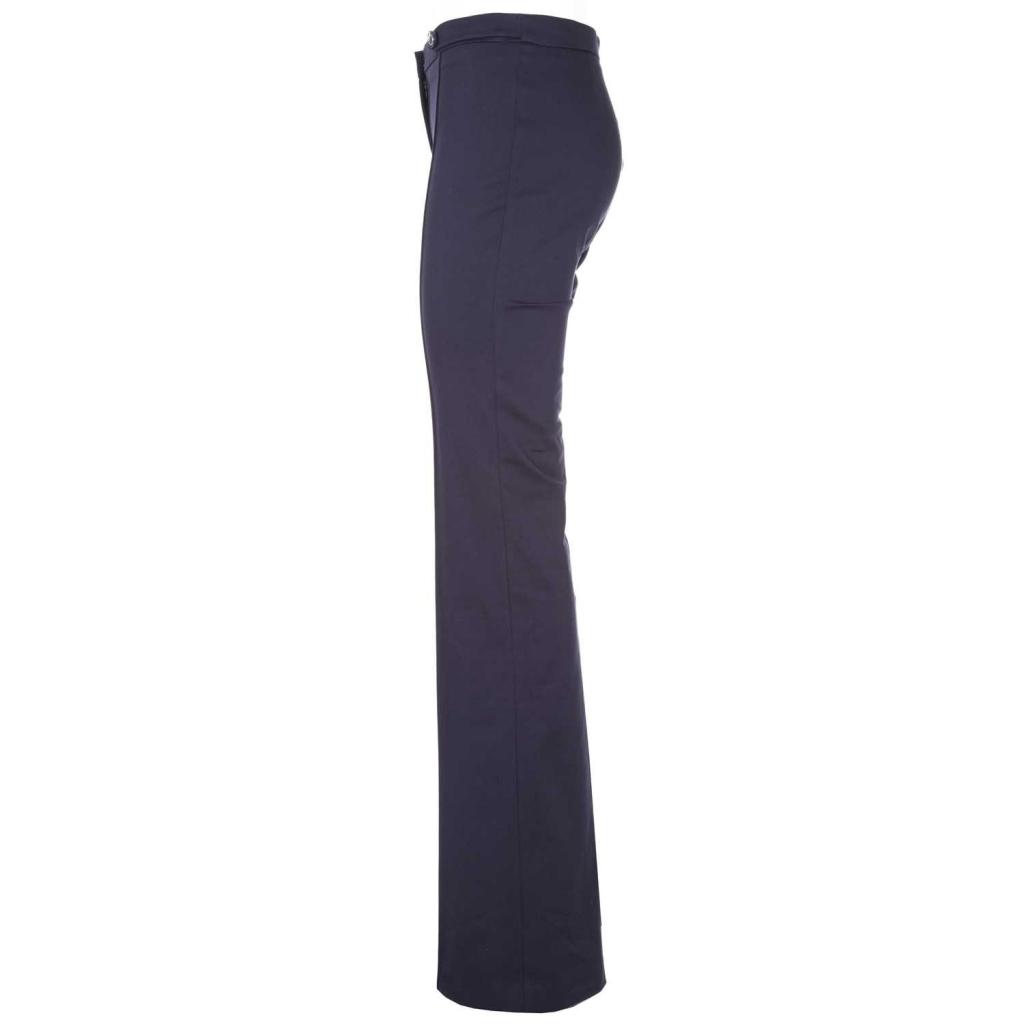 Trousers in blue stretch leg gabardine F92BLUE