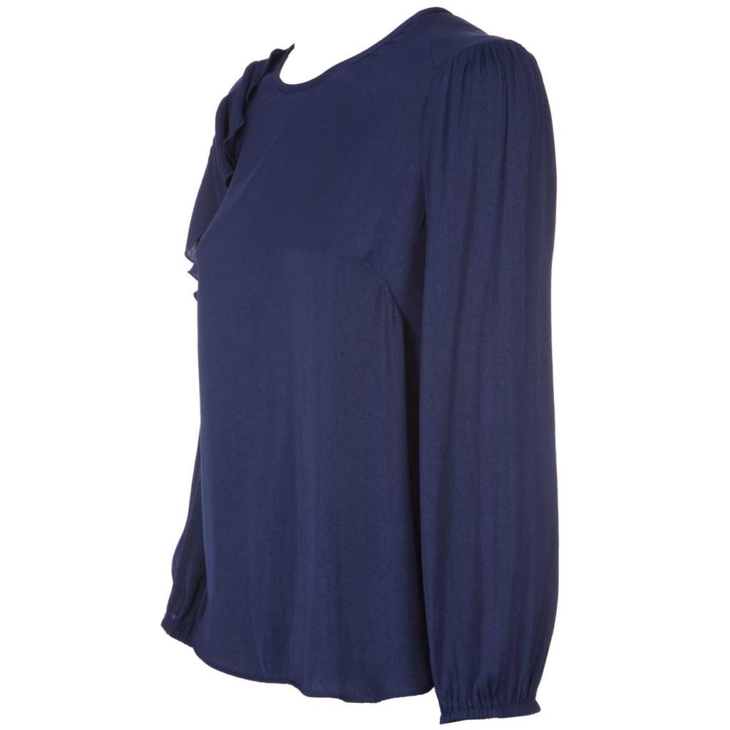 Blue blouse Candoi with ruffle BLUEDARK