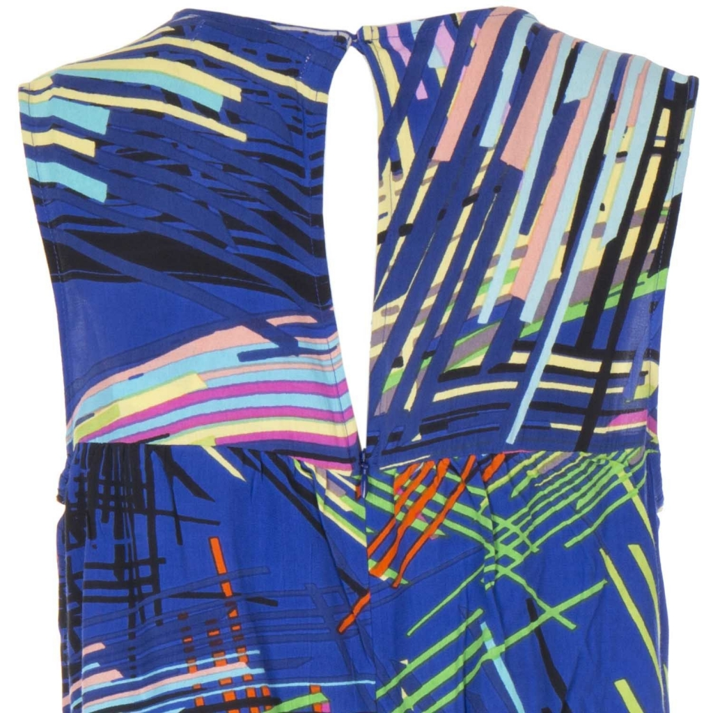 Tuta smanicata Illusion multicolor con balza frontale  3BLEU